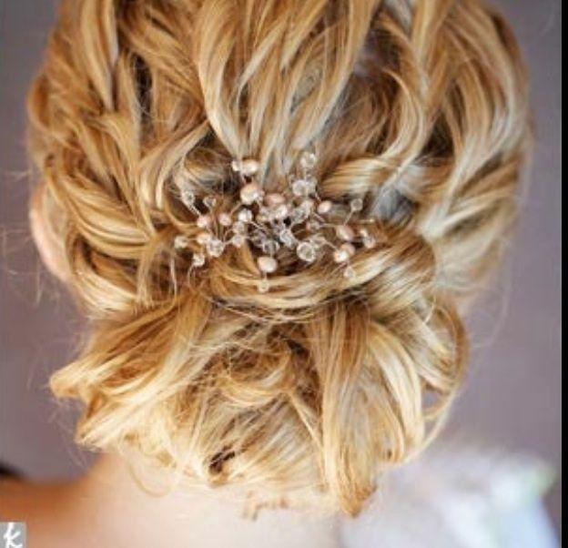 romantischer, weicher Nackenknoten mit Haarranke
