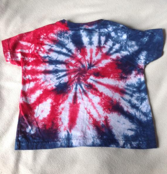 78d14400 Tie Dyed, Red, White, and Blue Short Sleeve Toddler/YouthT Shirt In Stock  and READY TO SHIP