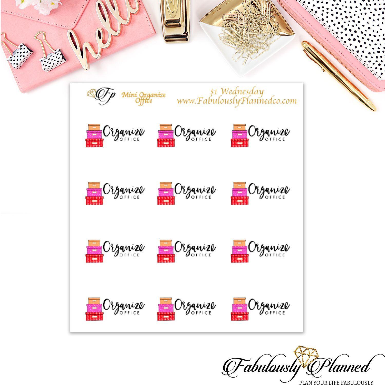 Mini Organize Office Stickers $1 Wednesday