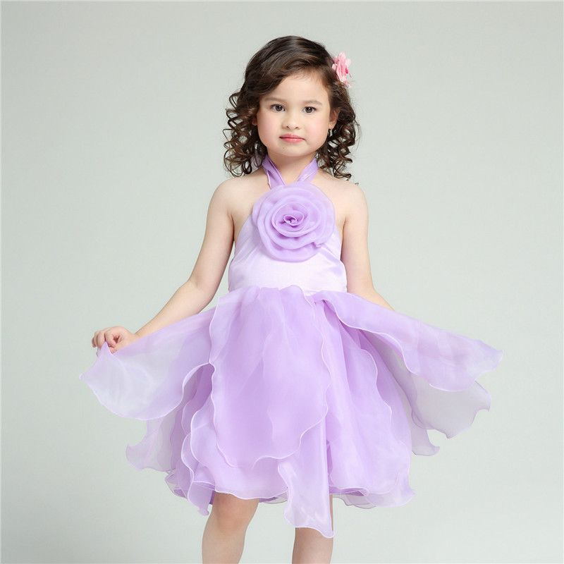 9a65f54d3fb25 2017 Brand Formal Girl Dress Children Purple Wedding Vestidos Kids ...