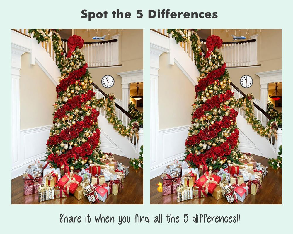 Christmas Riddle Spot the Difference in the Given