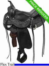 "16"" Circle Y Julie Goodnight Wind River Flex2 Trail Saddle 1750"