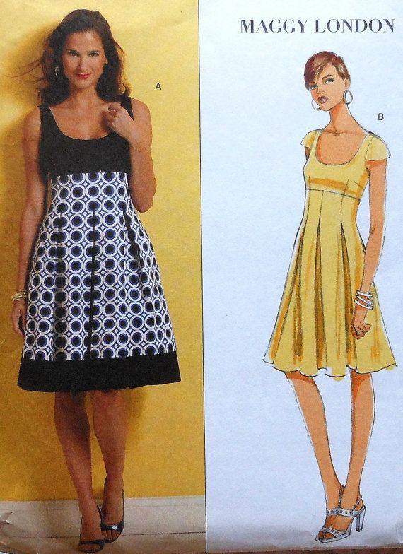 Maggy London vestido coser patrón UNCUT por latenightcoffee en Etsy ...