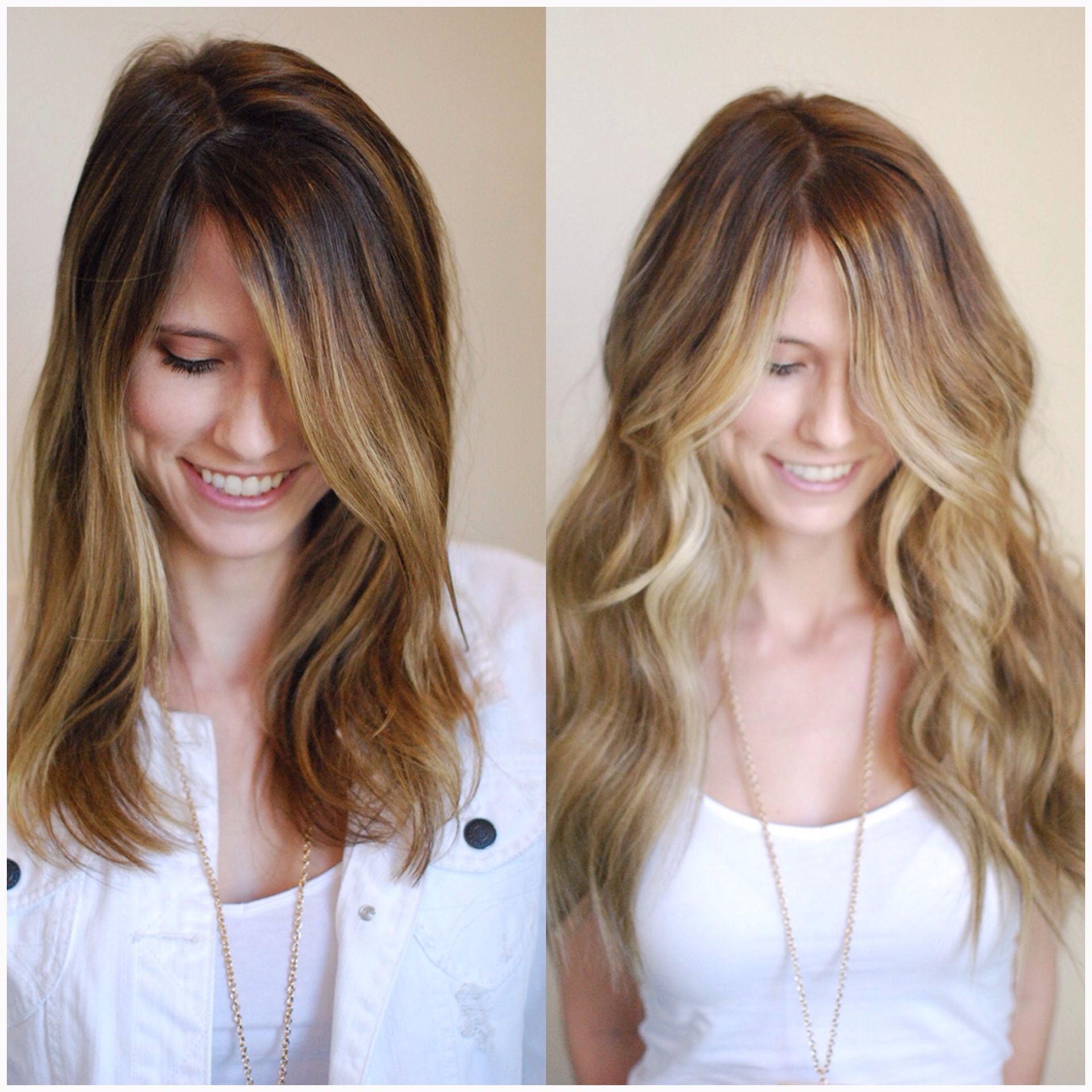 Like the way her roots fades into the highlights and looks so ...