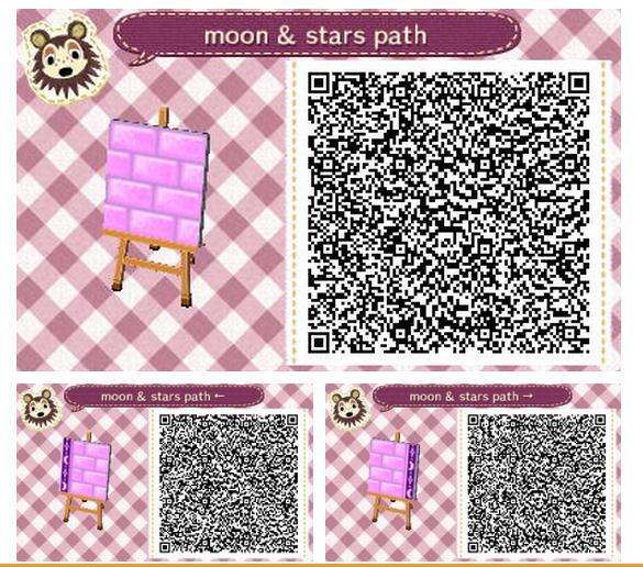 Purple Brick Path W Moon and Stars Border Set 1 Qr