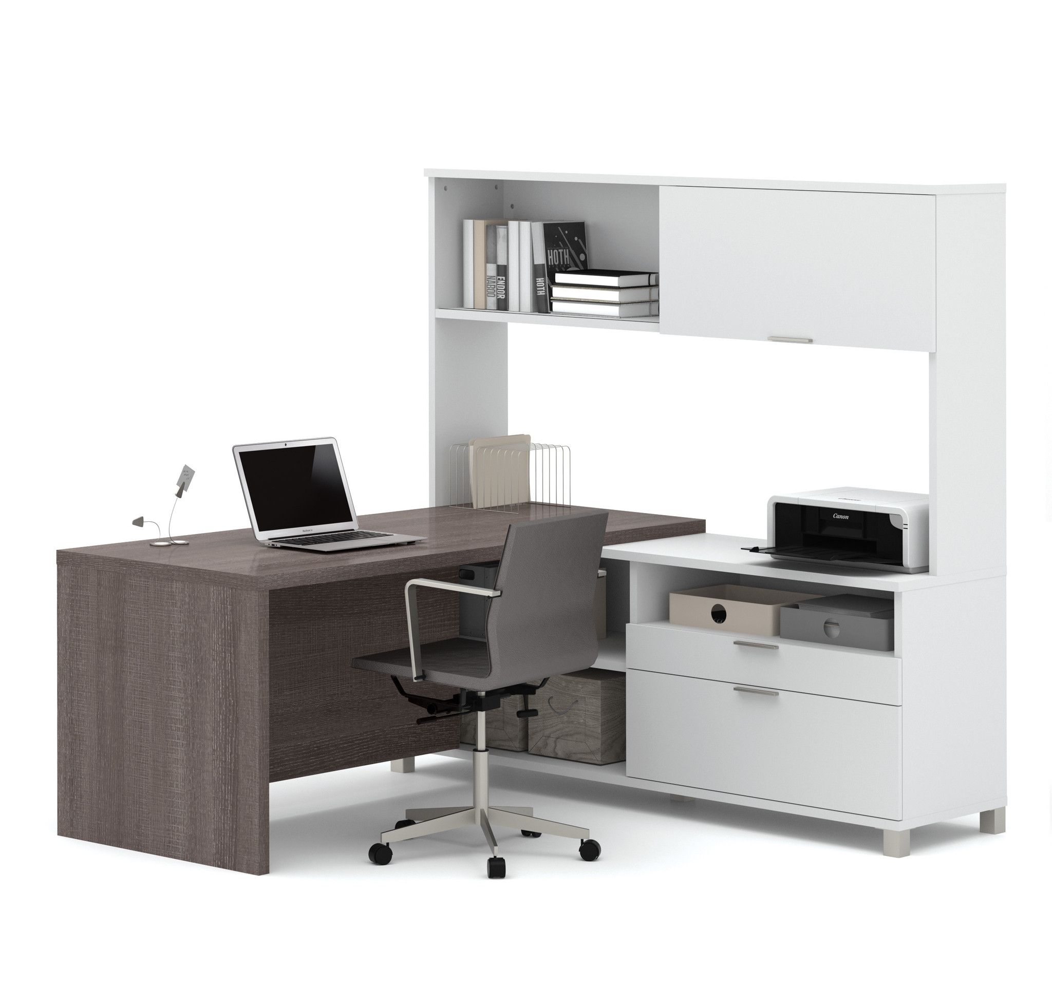 with ip office mainstays hutch desk multiple colors l walmart com shaped