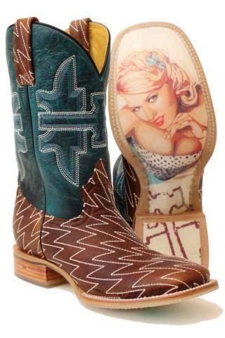 6051afefa12 Men's Cowboy Boots Tin Haul Brown Men's Lightning Bolt Stitch Boot ...