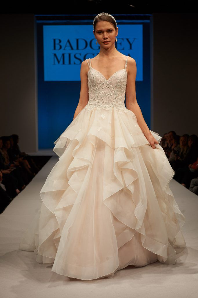 Loving This Spring 2017 Gown From Badgley Mischka Bridalpulse Wedding Collection Bridal Fashion Week Photo By Dan Howell