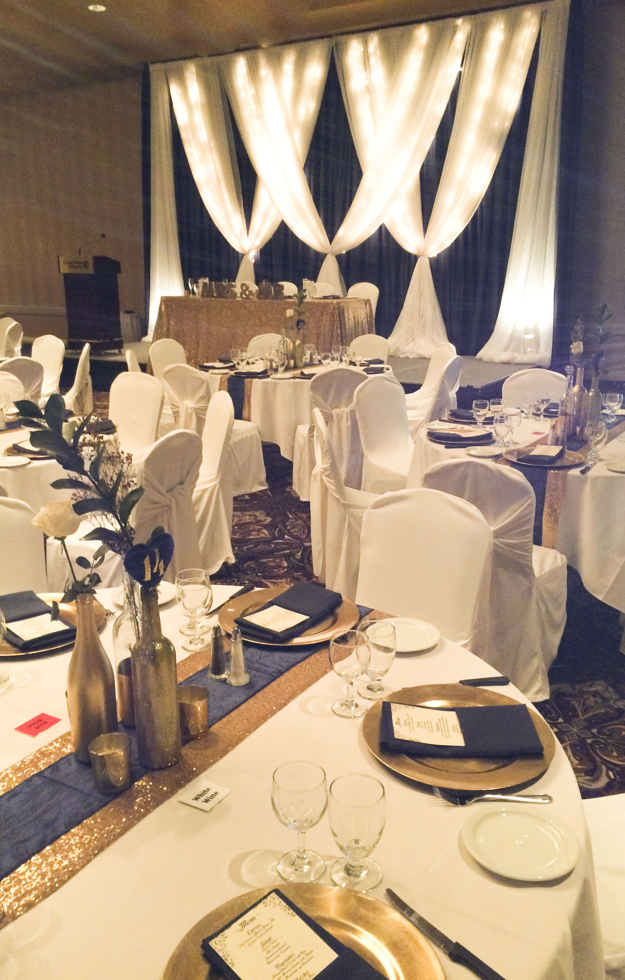 Glittery Gold And Navy Wedding Lachefs Lachefscatering