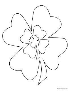 st patrick's day coloring page three shamrocks  coloring pages free printable coloring pages