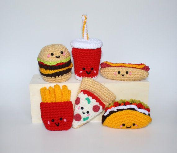 Fast Food Crochet Pattern Fast Food Friends Ebook Hamburger
