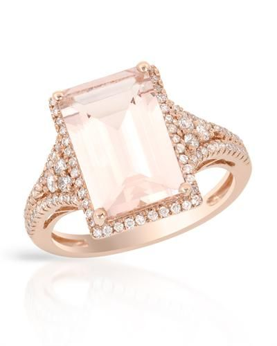 Cocktail ring rose gold & morganite
