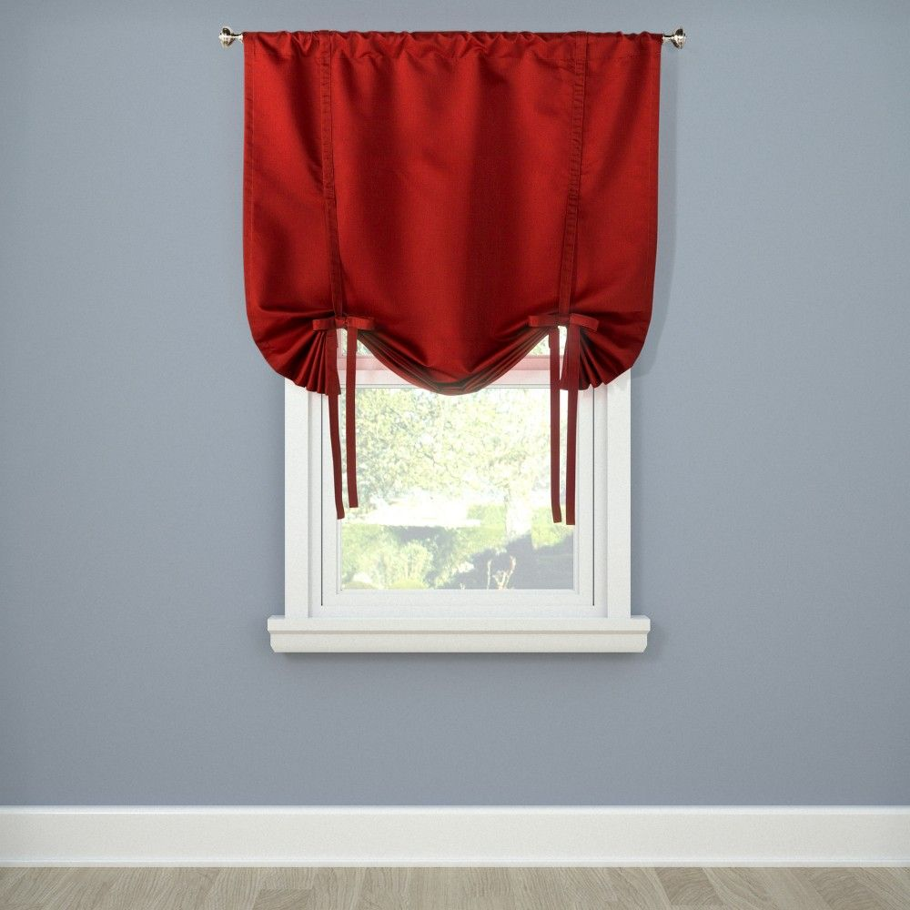 Twill Tie Up Curtain Panel
