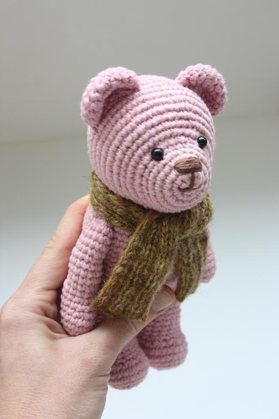Crochet Amigurumi Teddy Bear PATTERN - Amigurumi Animal PDF Tutorial ...