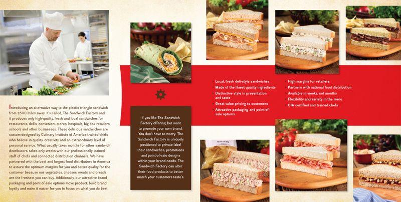 The Sandwich Factory Brochure Spread design by Next Door