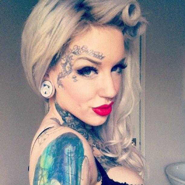 Pin By Cala On Tattoo Ideas Facial Tattoos Body Art Tattoos Girl Face Tattoo