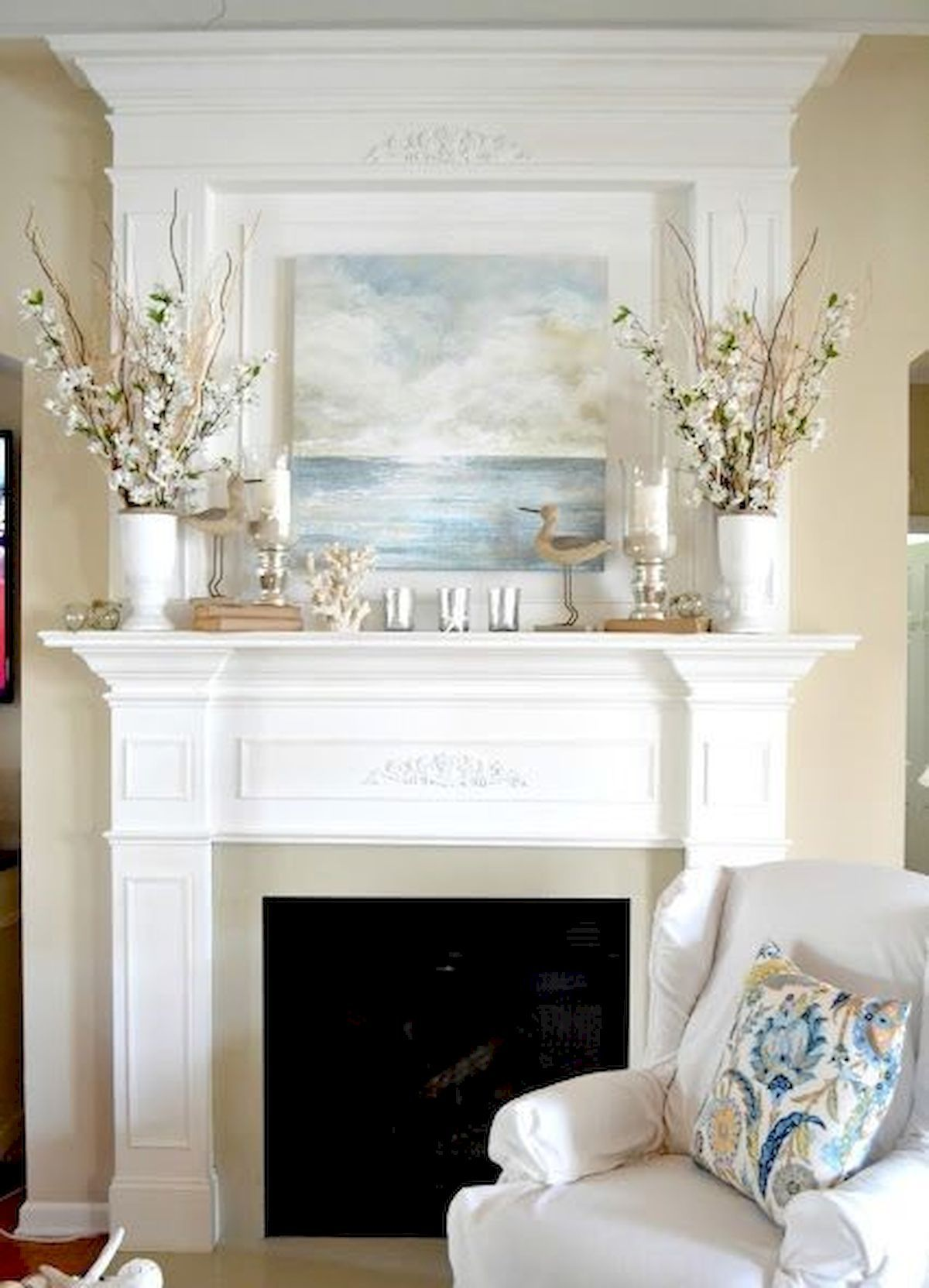 50 Beautiful Spring Mantel Decorating Ideas images