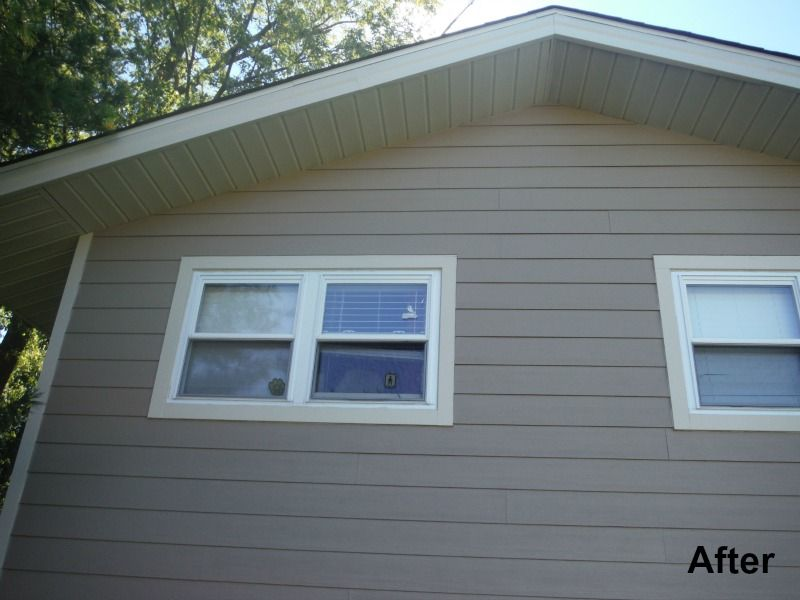 After Picture Of The House Featuring Autumn Tan James Hardie Lap Siding James Hardie Siding Hardie Siding Siding Repair