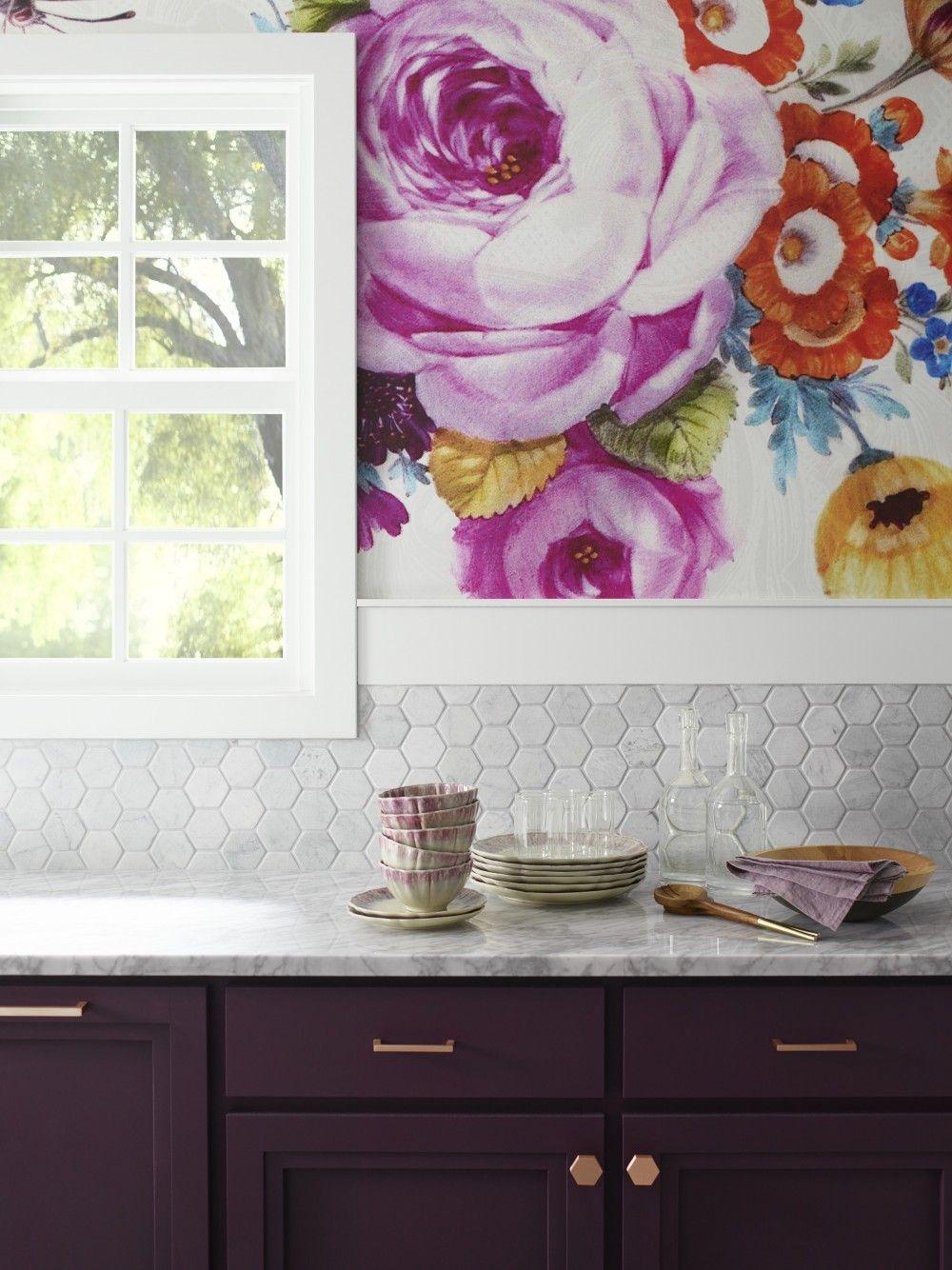 American Plum Kitchen | Kohler Ideas | Kitchen wallpaper ...
