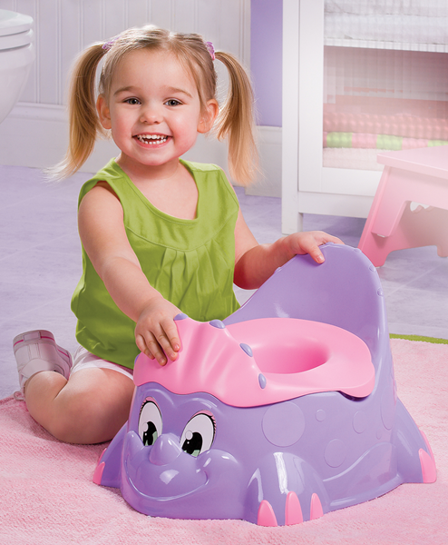 potty chair for girls my first hey look i got very own big girl dinosaur and it s pink purple favorite colors matches mommy car