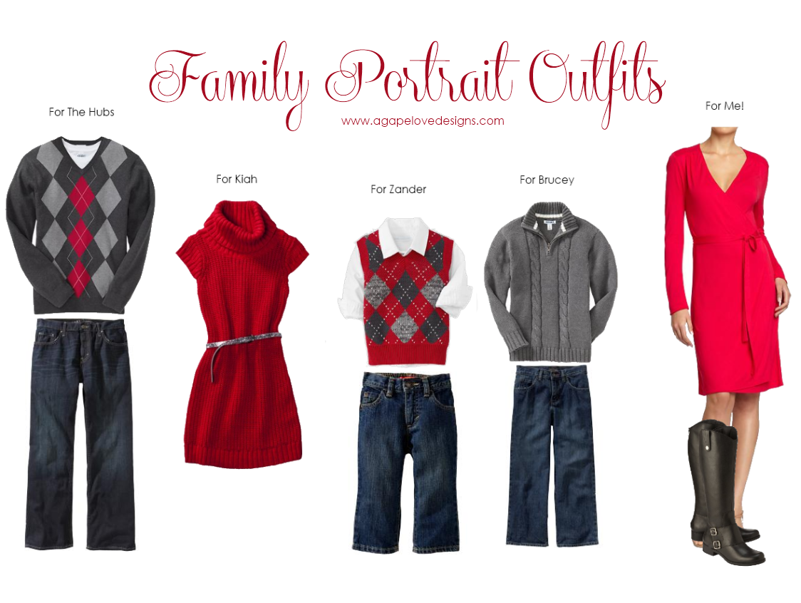 Agape Love Designs & Photography: Family Portrait Outfit Inspiration ...