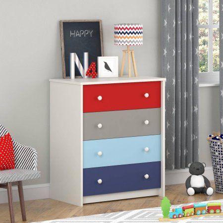 Cosco Kaleidoscope 4 Drawer Dresser Classic Contemporarydecor Kids Dressers 4 Drawer Dresser Bedroom Chest