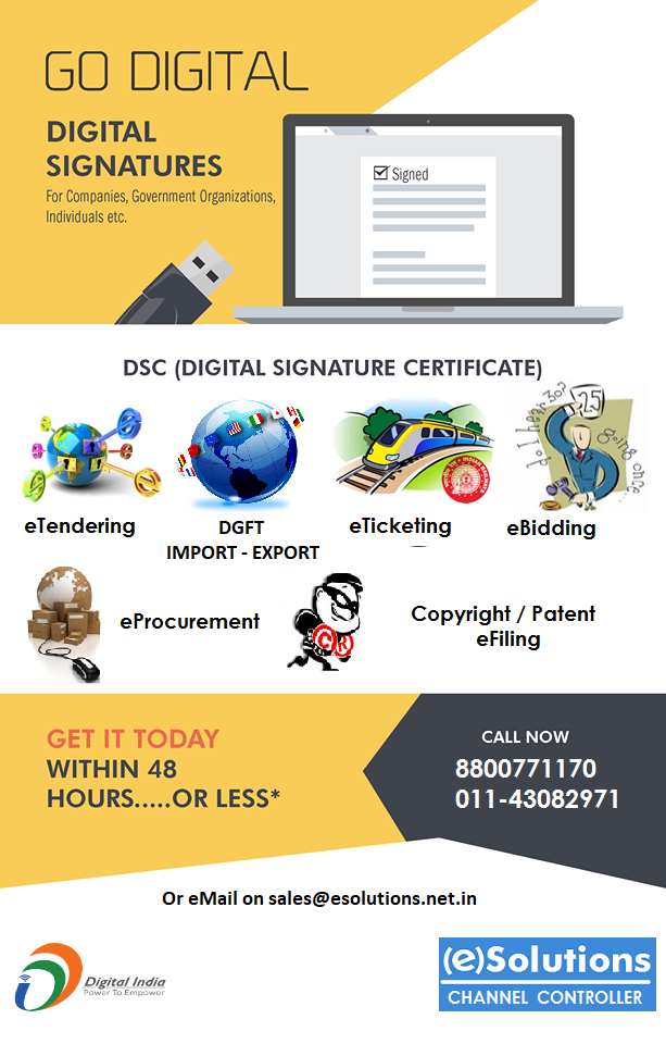 Esolutions Is An Emerging Digital Signature Certificate Provider In