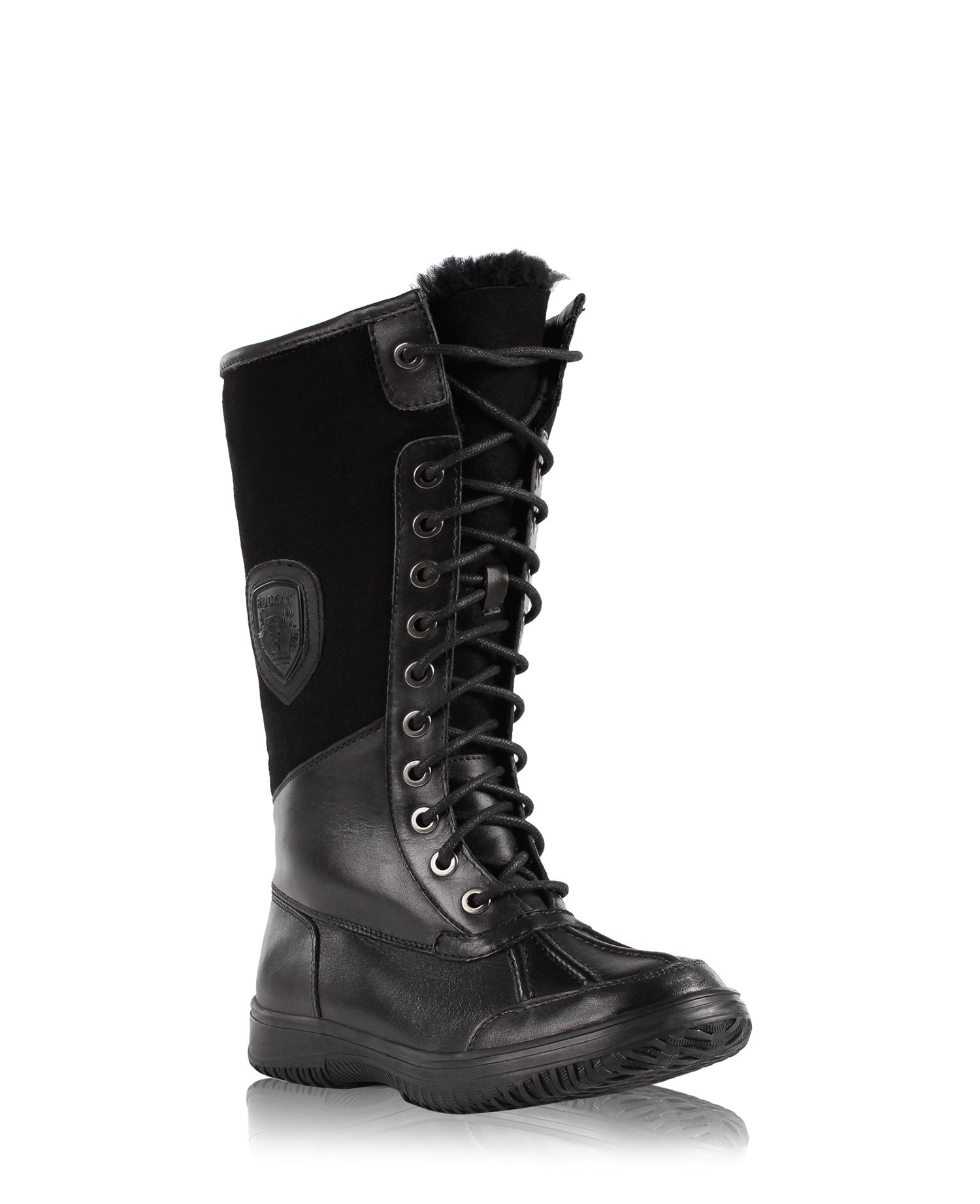 RUDSAK The Winter Enthusiasts (BLACK, NEW LOOK WATERPROOF LEATHER WITH SUEDE) | BUENA