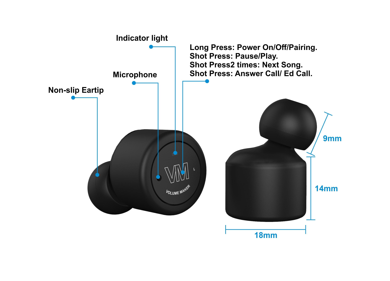 23e5c87883f Features of the RunBud wireless headphones https://volumemaker.com/store/