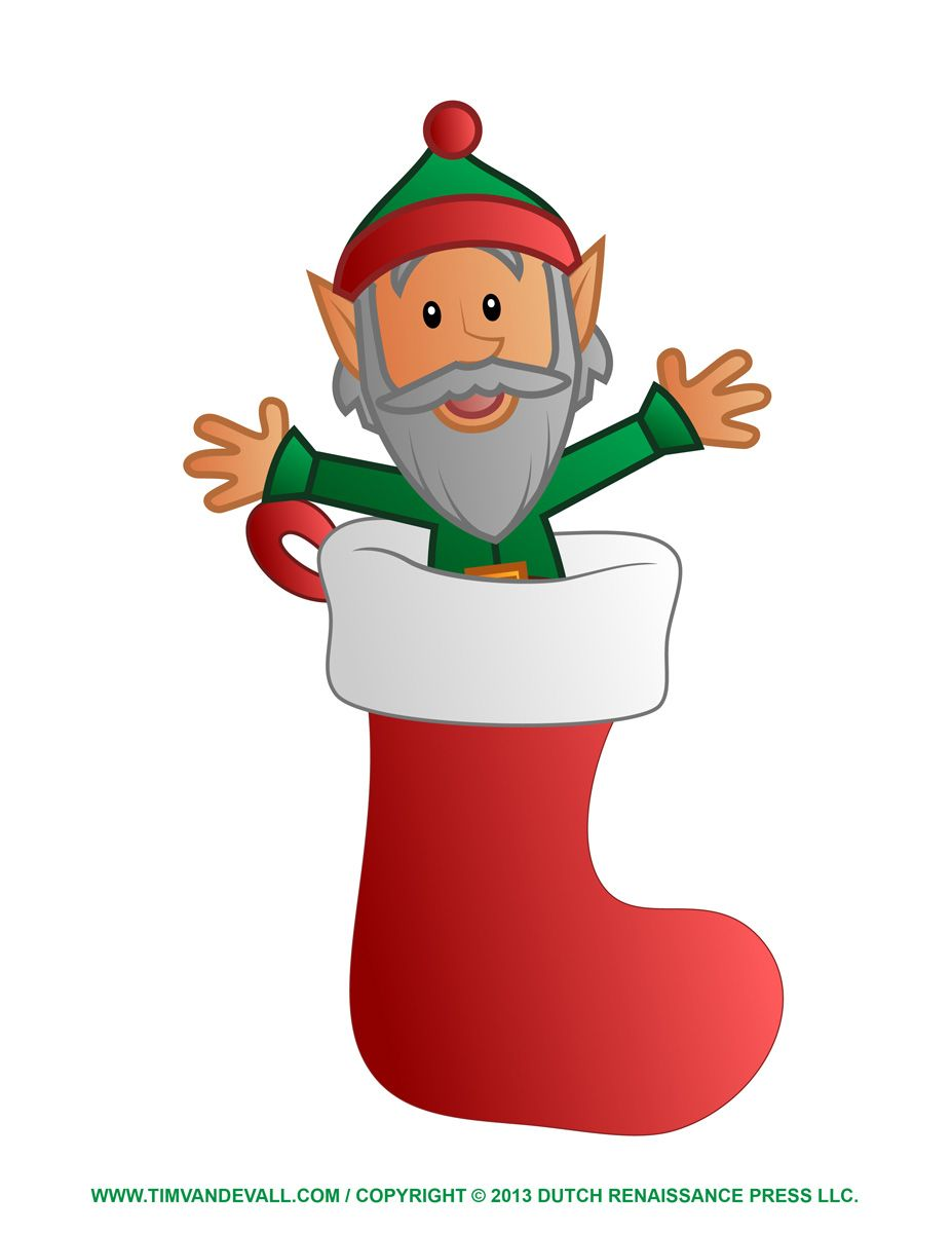 http://timvandevall.com/elf-clipart-coloring-pages/ | Christmas Clip ...