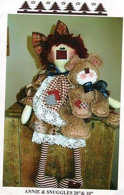 Muñecos Country: Annie y su Osito