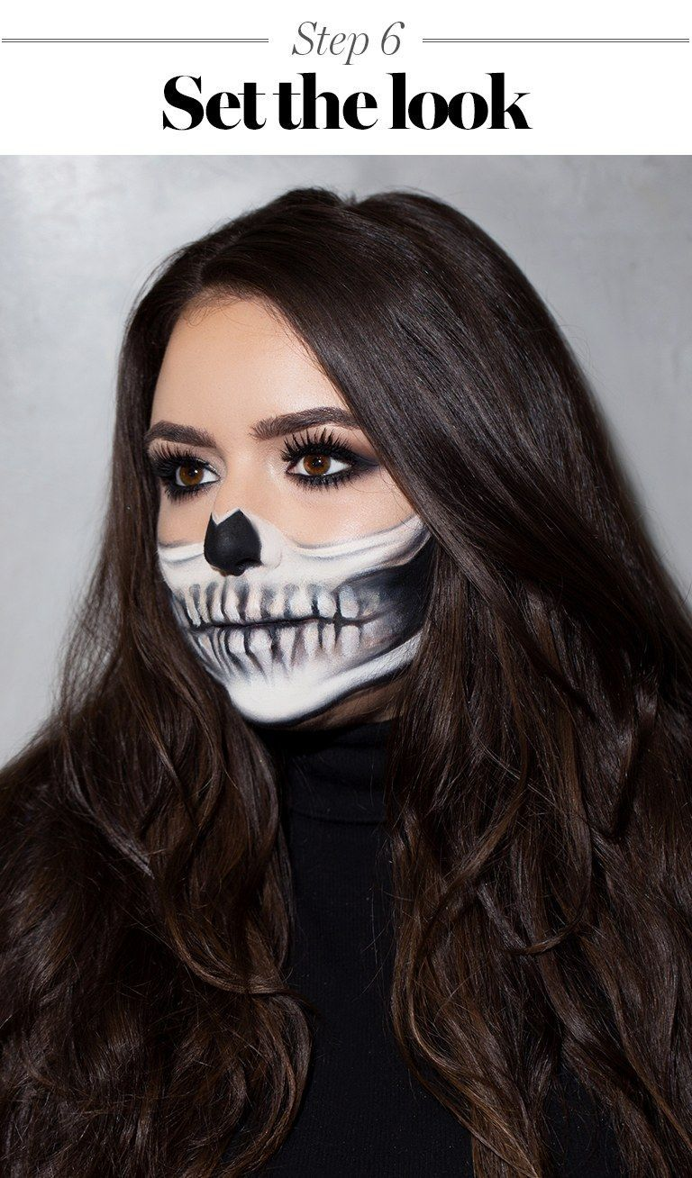 This Skeleton Halloween Makeup Tutorial Is Scary Easy to