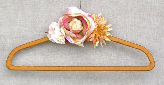 Perfect gift for attendants custom wedding dress hanger to match their dress bridesmaid by poshweddingday.com