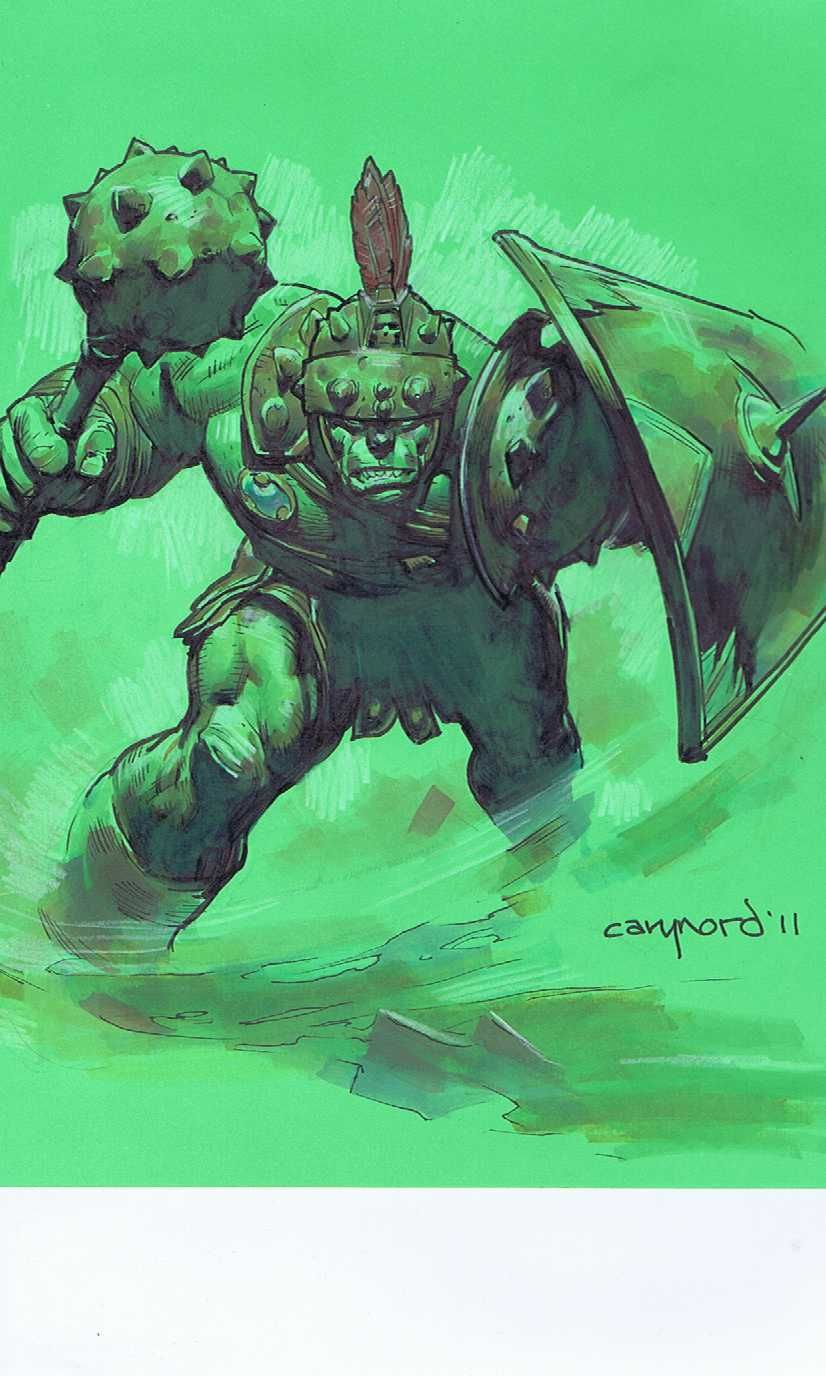 Cary Nord!!!!  Planet Hulk Commission