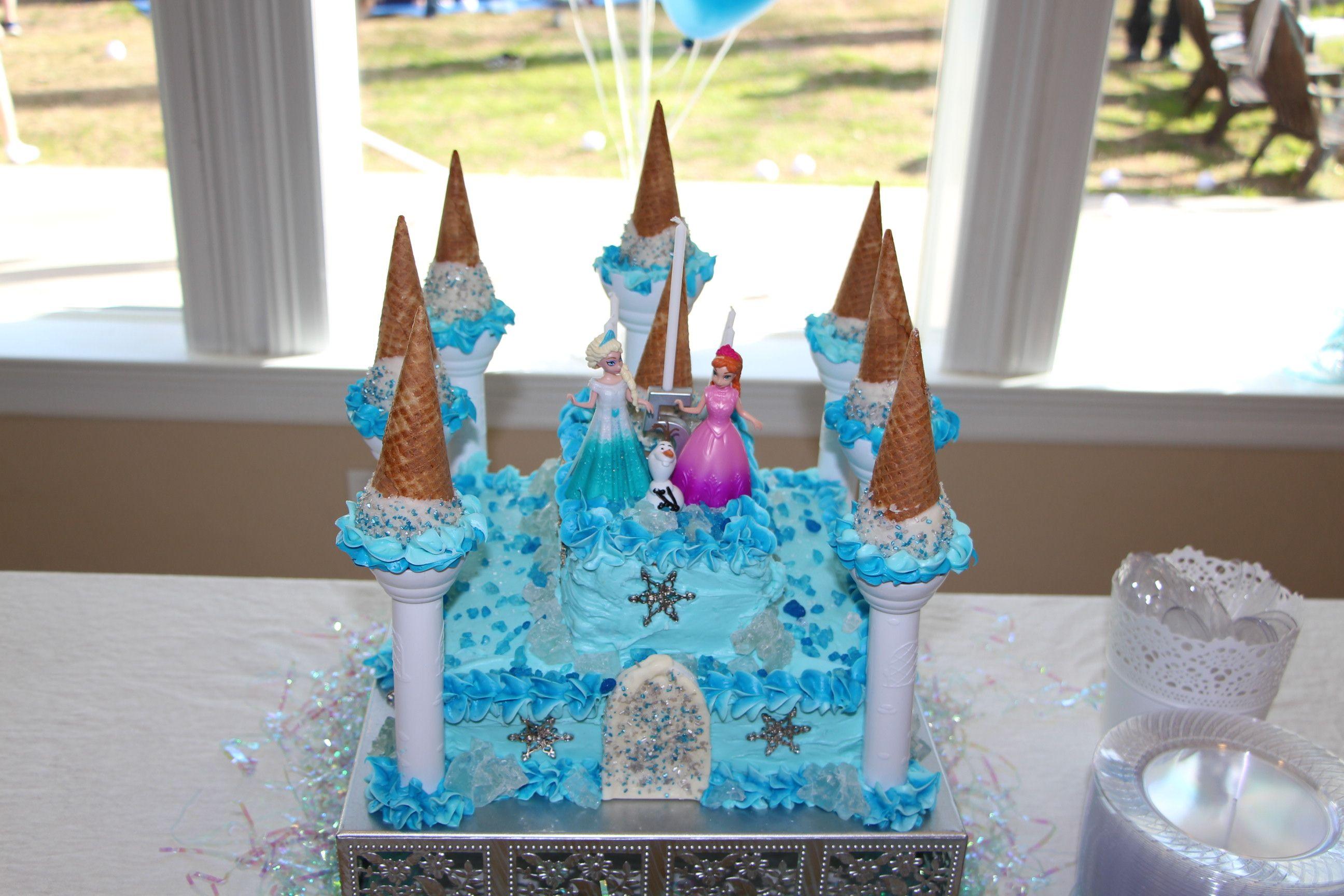 Frozen Cake using Wilton Castle Cake Set Fun Cakes Pinterest