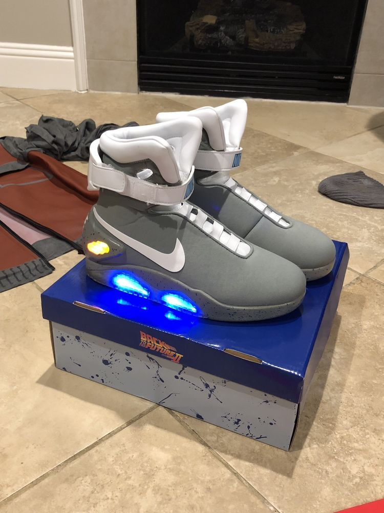 13c9b921745 Back To The Future 2 Shoes Officially Licensed Air Mags With Marty ...