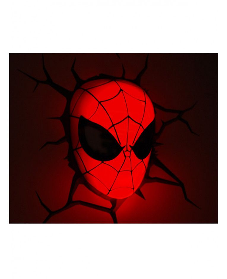 This spiderman mini 3d led wall light comes with a cool crack this spiderman mini 3d led wall light comes with a cool crack sticker to look as mozeypictures Gallery