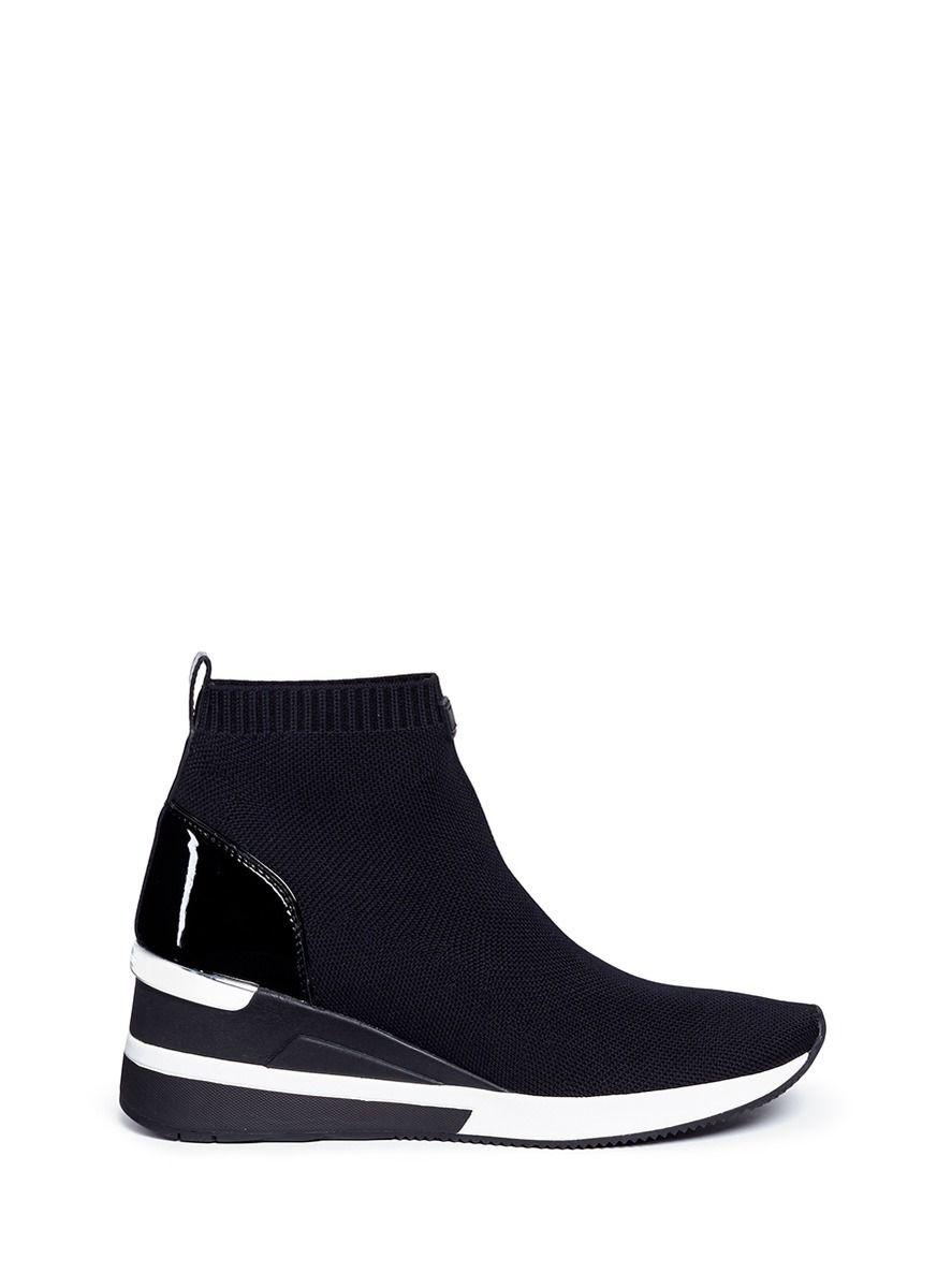 e48ea9324fa #michaelkors #shoes # Sneaker Boots, Knitting Socks, Wedge Heels