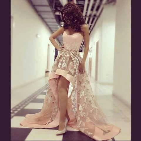 احلي روب سواري Lace Evening Dresses High Low Prom Dresses Strapless Prom Dresses