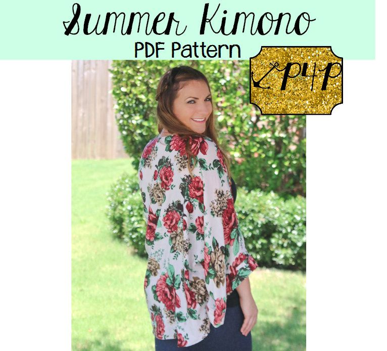 Summer Kimono Sewing Pattern By Patterns For Pirates Summer