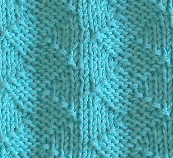 STOCKINETTE ZIG ZAG knitting pattern adapted to 52SP - Oh ...