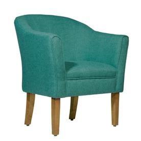 Benzara Modern Blue Linen Accent Chair Linen Accent Chairs