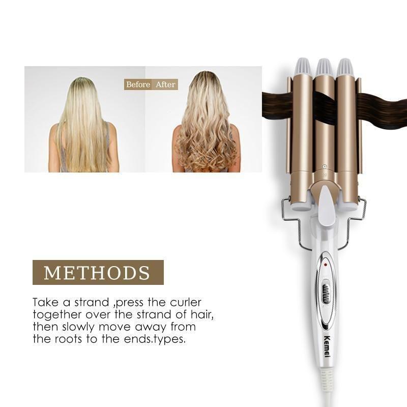 Triple Barrel Hair Curling Professionelle elektrische Eisen Keramik Hair Waver Styling Tools