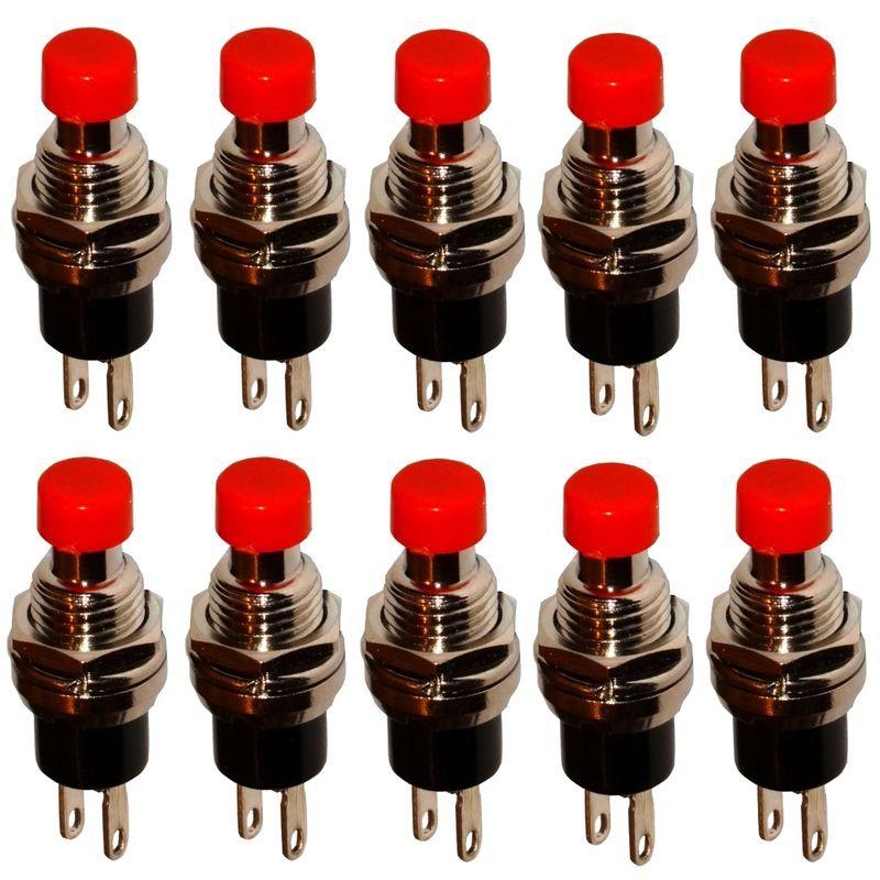 AERZETIX Interrupteur commutateur contacteur bouton SPST-NC 1A//250V 1 position rouge