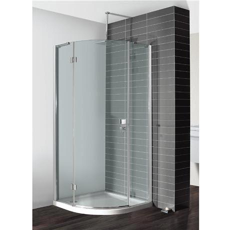 Crosswater Design Quadrant Single Hinged Door Shower Enclosure 3 Size Options At Victorian Plumbing Uk Corner Shower Enclosures Quadrant Shower Enclosures Shower Enclosure