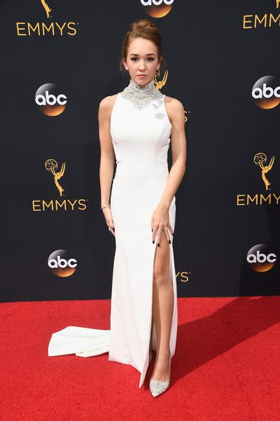 Actress Holly Taylor attends the 68th Annual Primetime Emmy Awards at Microsoft…