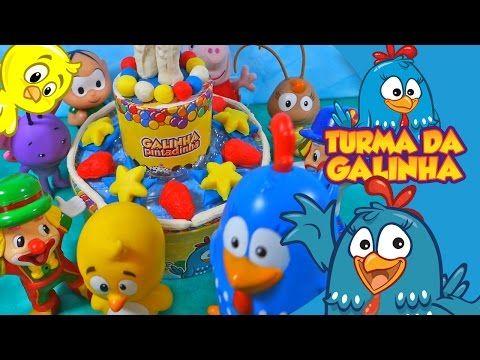 Parabéns da Galinha Pintadinha Feliz Aniversário Bolo Massinha PlayDoh Peppa  Pig Pintinho Musica - YouTube