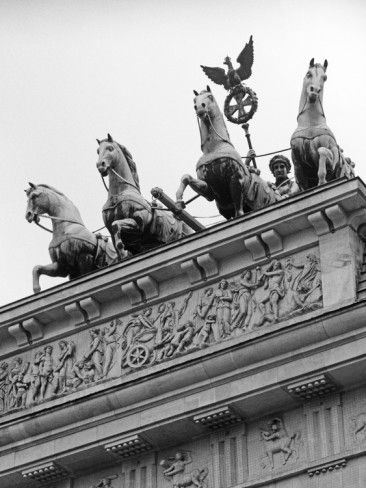 Statues on Top of Brandenburg Gate Photographic Print by Murat Taner at AllPosters.com