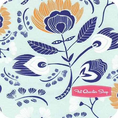 Tule Naranja Flora's Oasis Yardage SKU# TL-30020