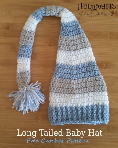 Long Tailed Baby Hat Free Crochet Pattern Holyjeans And My